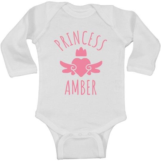 Cute Princess Amber Heart Onesie
