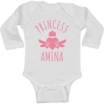 Cute Princess Amina Heart Onesie