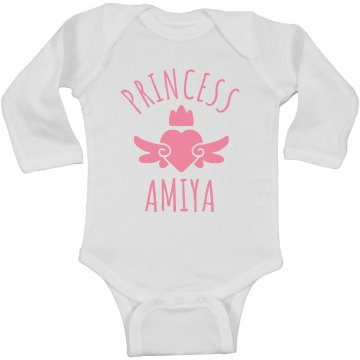 Cute Princess Amiya Heart Onesie