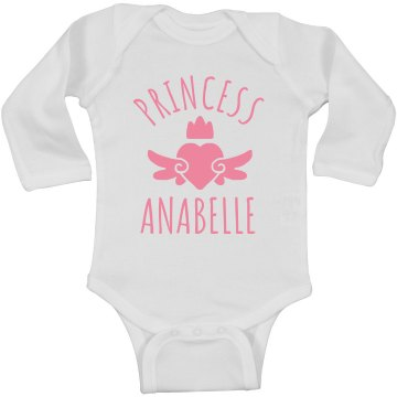 Cute Princess Anabelle Heart Onesie