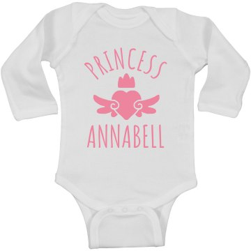 Cute Princess Annabell Heart Onesie