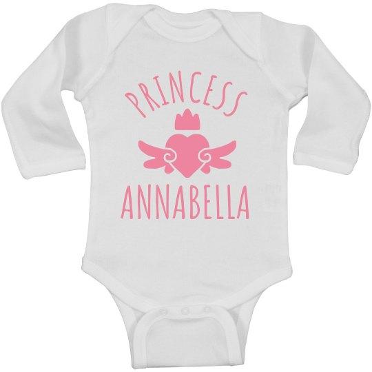 Cute Princess Annabella Heart Onesie