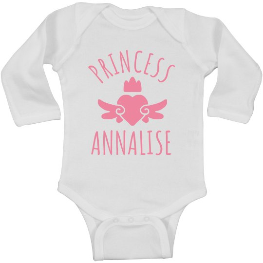 Cute Princess Annalise Heart Onesie