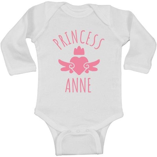 Cute Princess Anne Heart Onesie