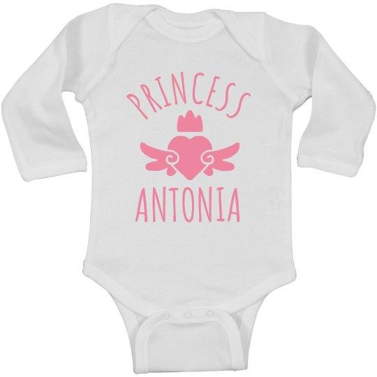 Cute Princess Antonia Heart Onesie