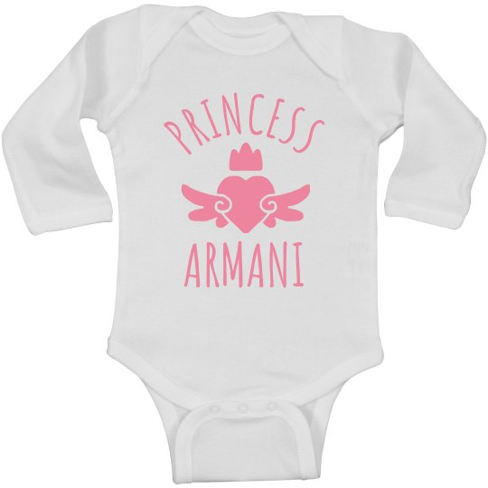 Cute Princess Armani Heart Onesie