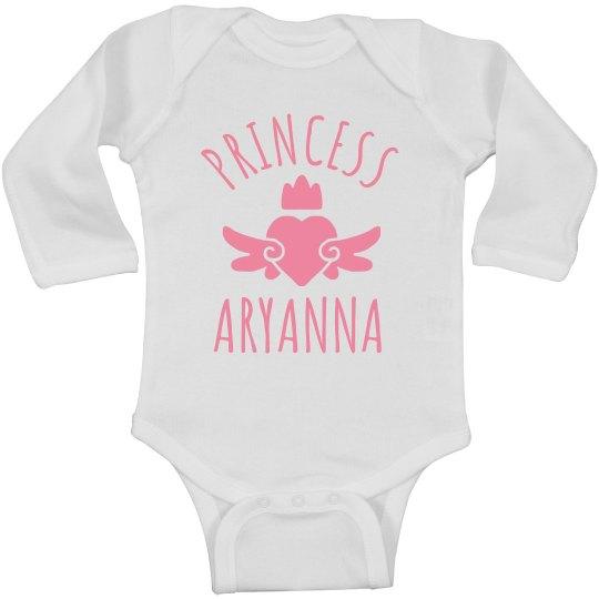 Cute Princess Aryanna Heart Onesie