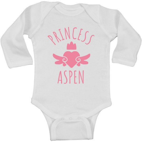 Cute Princess Aspen Heart Onesie
