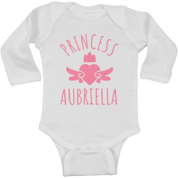 Cute Princess Aubriella Heart Onesie