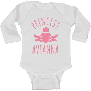 Cute Princess Avianna Heart Onesie