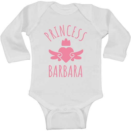 Cute Princess Barbara Heart Onesie