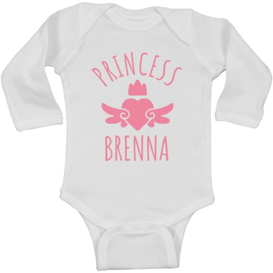 Cute Princess Brenna Heart Onesie