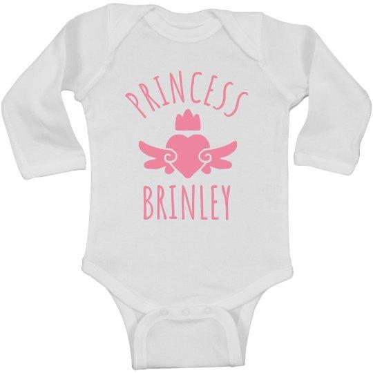 Cute Princess Brinley Heart Onesie