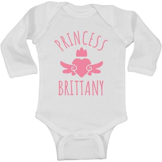 Cute Princess Brittany Heart Onesie