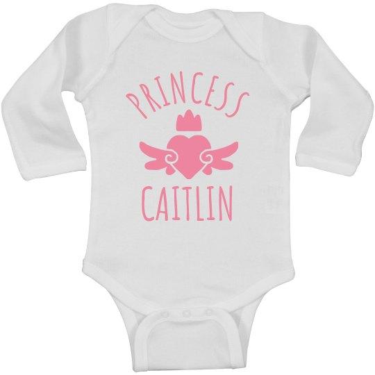 Cute Princess Caitlin Heart Onesie