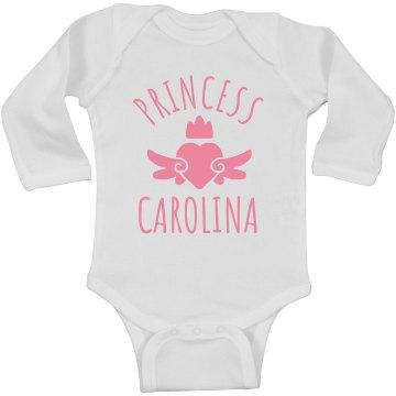 Cute Princess Carolina Heart Onesie