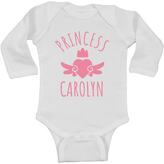 Cute Princess Carolyn Heart Onesie