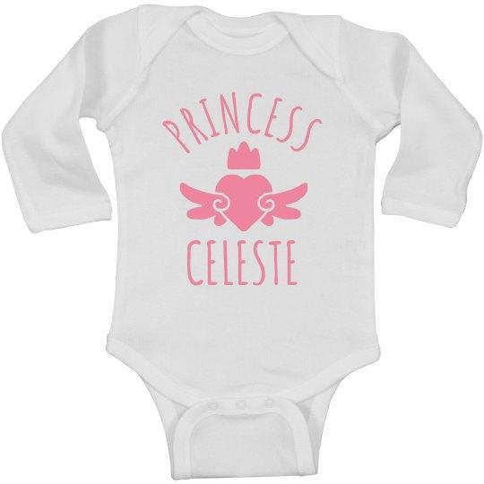 Cute Princess Celeste Heart Onesie