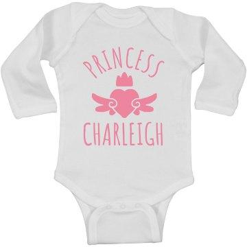 Cute Princess Charleigh Heart Onesie