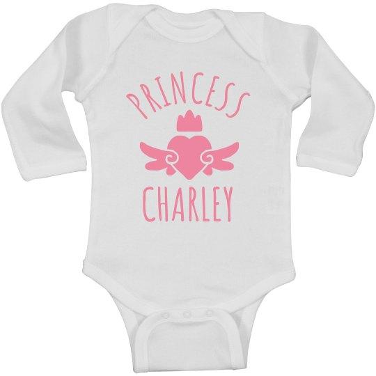 Cute Princess Charley Heart Onesie