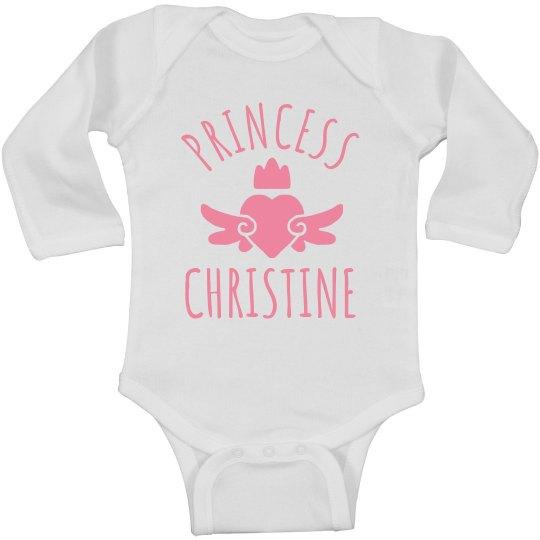 Cute Princess Christine Heart Onesie