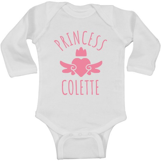 Cute Princess Colette Heart Onesie