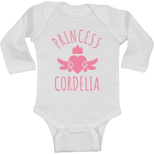 Cute Princess Cordelia Heart Onesie