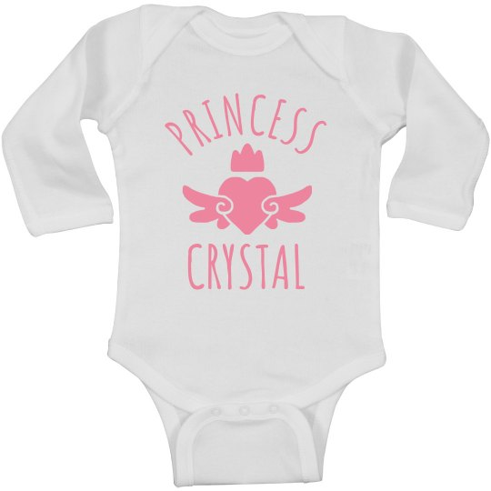Cute Princess Crystal Heart Onesie