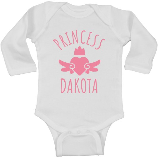 Cute Princess Dakota Heart Onesie