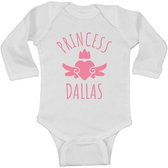 Cute Princess Dallas Heart Onesie