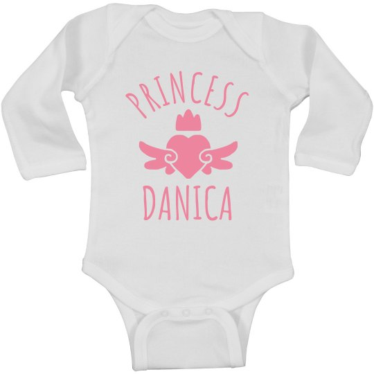 Cute Princess Danica Heart Onesie