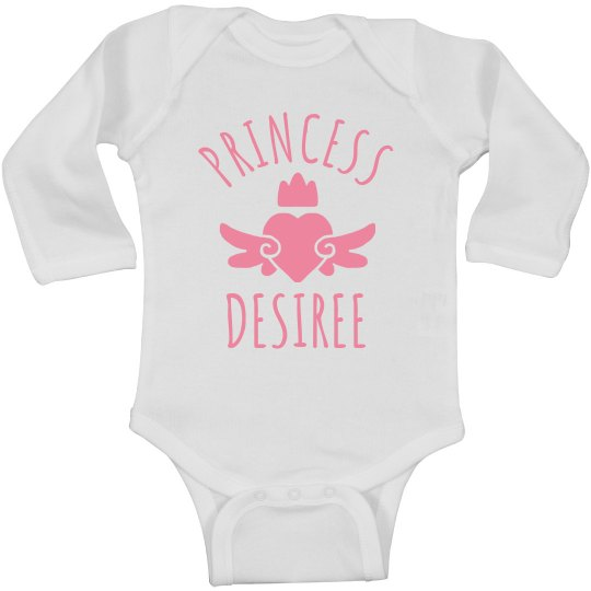 Cute Princess Desiree Heart Onesie