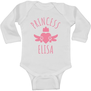 Cute Princess Elisa Heart Onesie