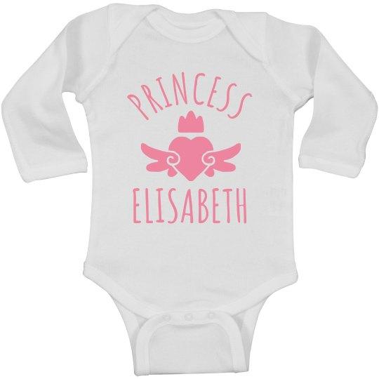 Cute Princess Elisabeth Heart Onesie