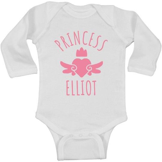 Cute Princess Elliot Heart Onesie