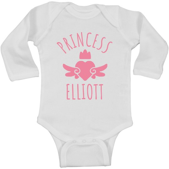 Cute Princess Elliott Heart Onesie