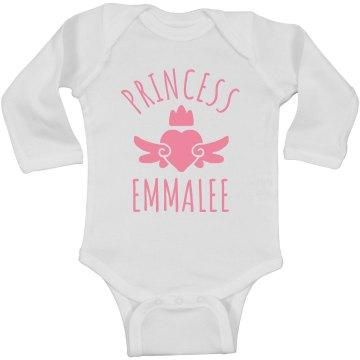 Cute Princess Emmalee Heart Onesie