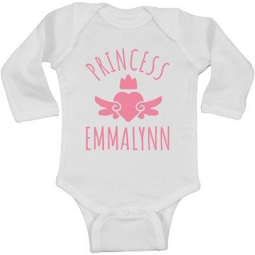 Cute Princess Emmalynn Heart Onesie