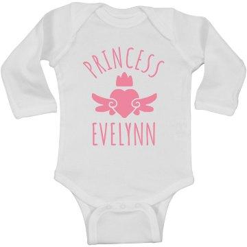 Cute Princess Evelynn Heart Onesie