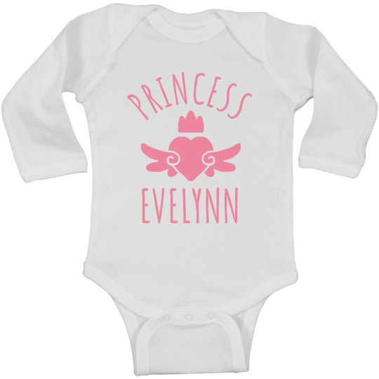 Cute Princess Evelynn Heart Onesie