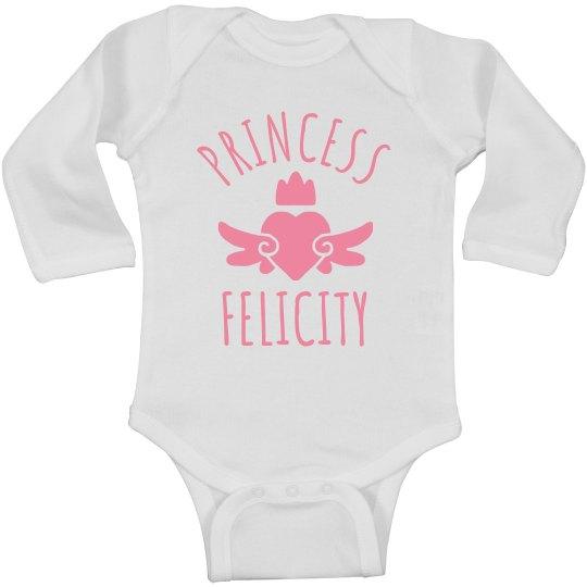 Cute Princess Felicity Heart Onesie