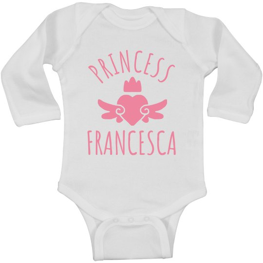 Cute Princess Francesca Heart Onesie