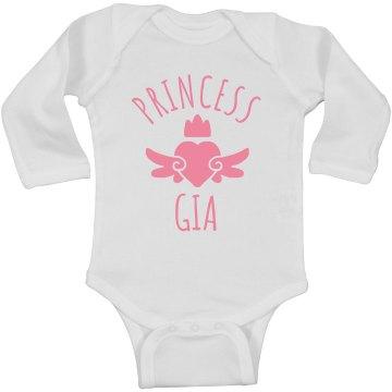 Cute Princess Gia Heart Onesie