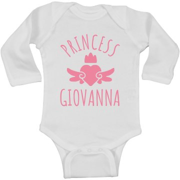 Cute Princess Giovanna Heart Onesie