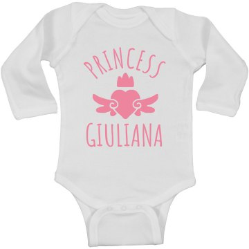 Cute Princess Giuliana Heart Onesie