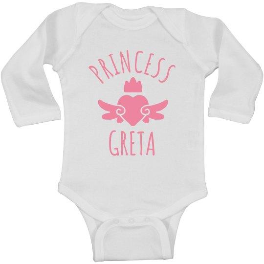 Cute Princess Greta Heart Onesie