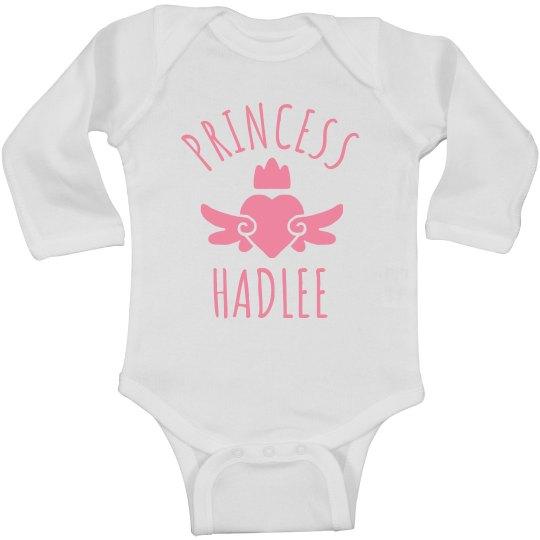 Cute Princess Hadlee Heart Onesie