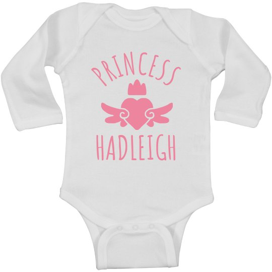 Cute Princess Hadleigh Heart Onesie