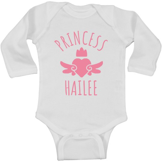 Cute Princess Hailee Heart Onesie
