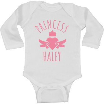 Cute Princess Haley Heart Onesie